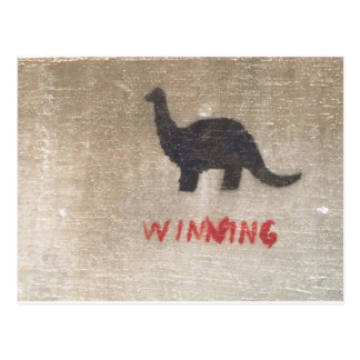 Winning Dinosaur Postcard