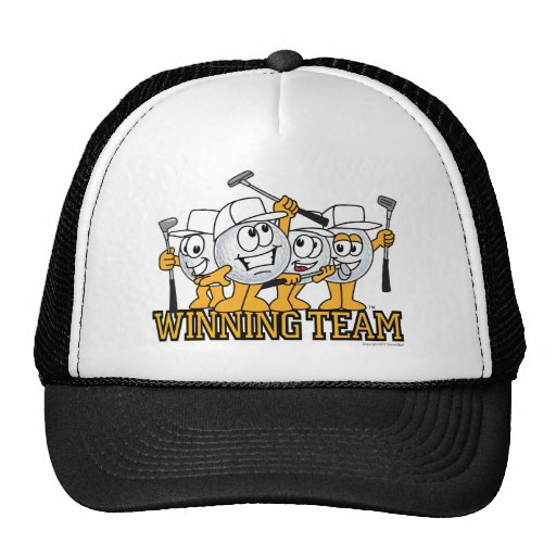 Winning Golf Team In Scramble Mesh Hat