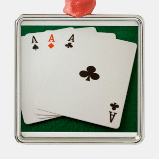 Winning Hand Four Aces Christmas Ornaments
