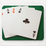 Winning Hand Four Aces Mouse Pad