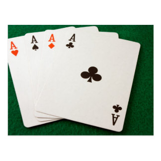 Winning Hand Four Aces Postcard