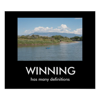 WINNING has many definitions Poster