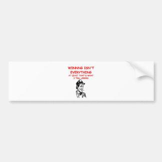 winning joke bumper sticker