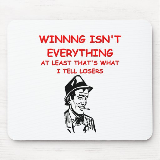 winning joke mouse pad