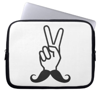 Winning Mustache custom laptop sleeve