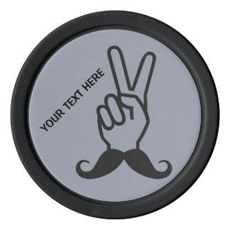 Winning Mustache custom poker chips