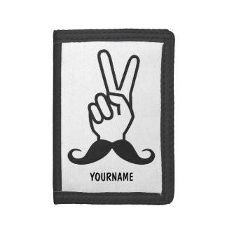 Winning Mustache custom wallets