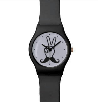Winning Mustache custom watches