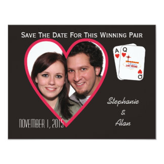 Winning Pair Save The Date Card 11 Cm X 14 Cm Invitation Card