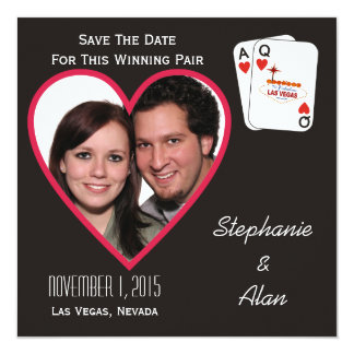 Winning Pair Save The Date Card 13 Cm X 13 Cm Square Invitation Card