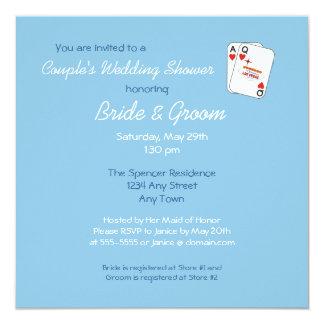 Winning Pair Sky Blue Couple's Shower Invitation