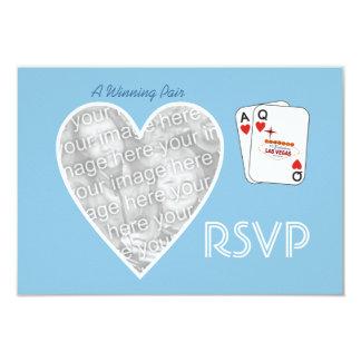 Winning Pair Sky Blue RSVP Card 9 Cm X 13 Cm Invitation Card