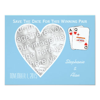 Winning Pair Sky Blue Save The Date Card 11 Cm X 14 Cm Invitation Card