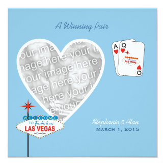 Winning Pair Sky Blue Wedding Invitation