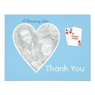 Winning Pair Thank You Card 11 Cm X 14 Cm Invitation Card