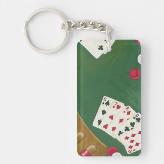 Winning Poker Hand Six Through Ten Key Ring