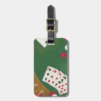 Winning Poker Hand Six Through Ten Luggage Tag