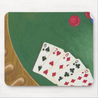 Winning Poker Hand Six Through Ten Mouse Pad