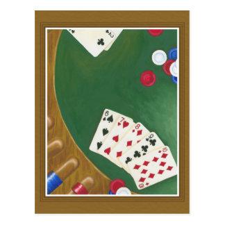 Winning Poker Hand Six Through Ten Postcard