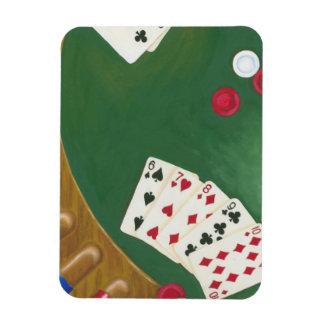 Winning Poker Hand Six Through Ten Flexible Magnet