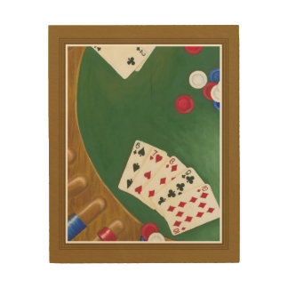 Winning Poker Hand Six Through Ten Wood Print