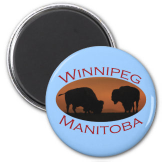 Winnipeg, Manitoba 6 Cm Round Magnet