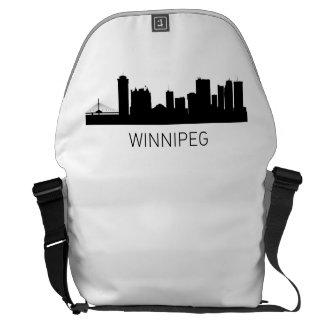 Winnipeg Manitoba Cityscape Courier Bags