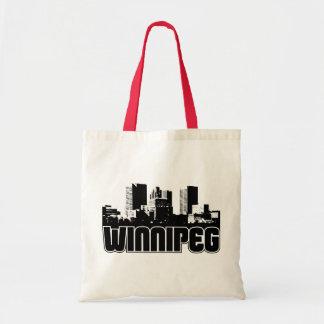 Winnipeg Skyline Budget Tote Bag