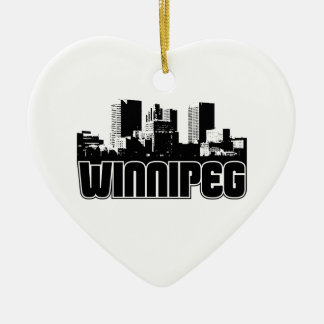 Winnipeg Skyline Christmas Ornament