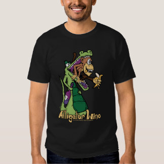Wino Alligator eating a monkey with a banana. T-shirt