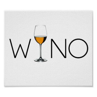 Wino Wine Lover Glass Poster