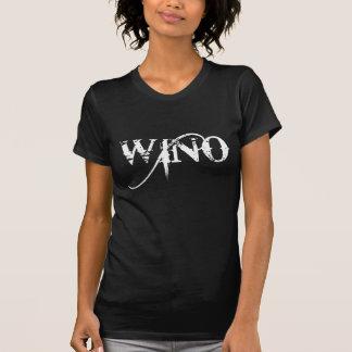 Wino Wine Lover Grunge Typography T-Shirt