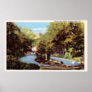 Winona Lake Indiana circa 1930 Poster