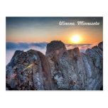 Winona MN Postcard: Garvin Heights Fog