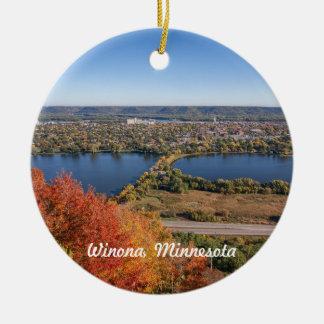Winona Ornament: Winona in Autumn Christmas Ornament