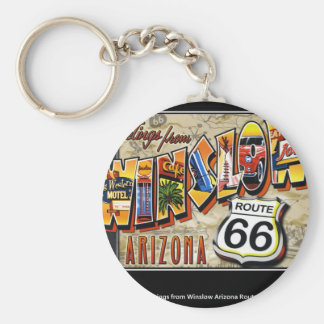 winslow arizona basic round button key ring