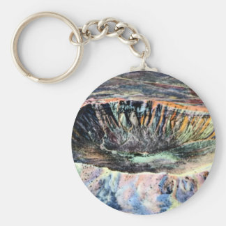 Winslow Arizona Meteor Crater Basic Round Button Key Ring