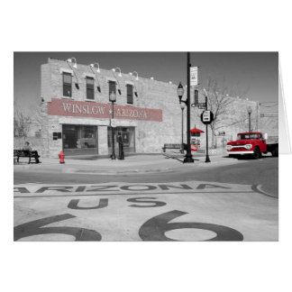 Winslow Arizona Red Splash Photograph Card