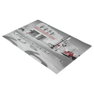 Winslow Arizona Red Splash Photograph Doormat