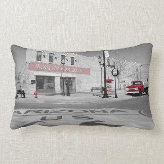 Winslow Arizona Red Splash Photograph Lumbar Cushion