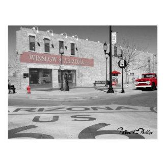 Winslow Arizona Red Splash Photograph Postcard