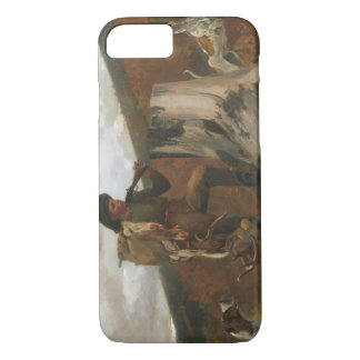 Winslow Homer - A Huntsman and Dogs iPhone 7 Case