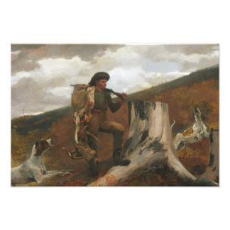 Winslow Homer - A Huntsman and Dogs Photo Print