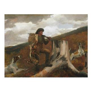 Winslow Homer - A Huntsman and Dogs Postcard