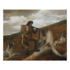 Winslow Homer - A Huntsman and Dogs Poster