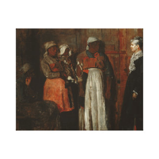 Winslow Homer - A Visit from the Old Mistress Canvas Print