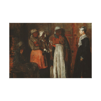 Winslow Homer - A Visit from the Old Mistress Gallery Wrap Canvas