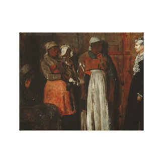 Winslow Homer - A Visit from the Old Mistress Gallery Wrapped Canvas