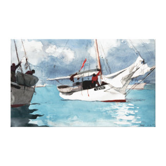 Winslow Homer Fishing Boats, Key West Canvas Print