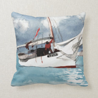 Winslow Homer Fishing Boats, Key West Cushion